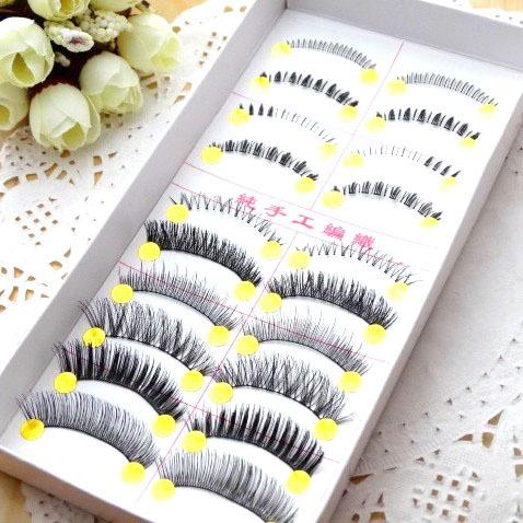 10 pair/pack Different 10 styles mixed false fake eyelashes.Min order 12 items mixed.18.18047.Free shipping(China (Mainland))