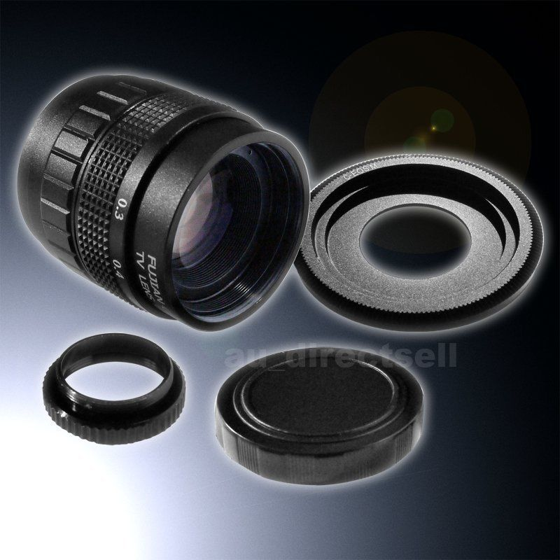 35mm F1.7 CCTV Lens + C Mount Canon EOS M Adapter EOS M2 M3 M10(China (Mainland))