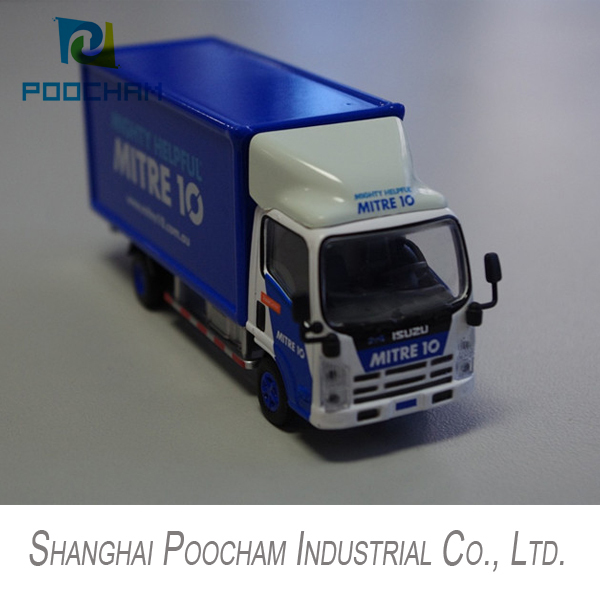 truck model metal toy, mini Goods vehicle in scale 1:64(China (Mainland))