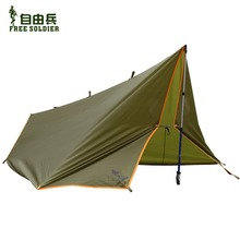 Outdoor camping traveling survivor awning Multi-function mat folding PU waterproof portable tent shade rain shed Free soldier(China (Mainland))