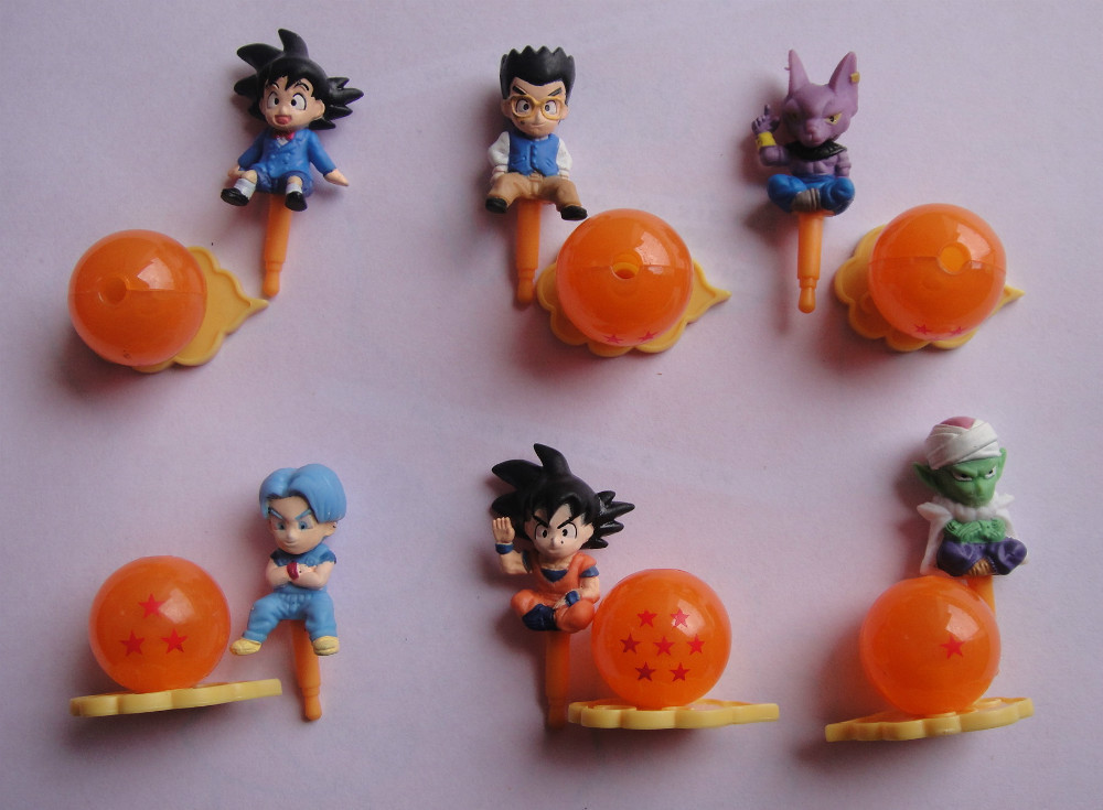 Toys For Ornaments : Pcs dragon ball toy assembling doll capsule toys gift