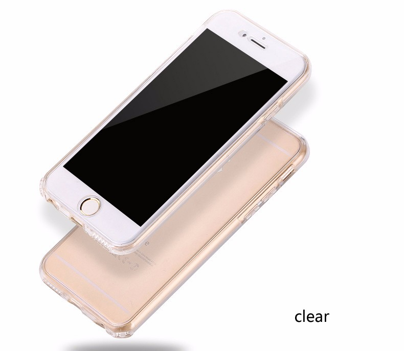 Transparent TPU Soft Full Body Protective Phone Case for iPhone 5 5S SE 6 6S Plus Huawei Ascend P8 P9 Lite