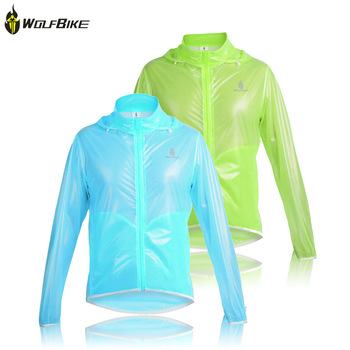 WOLFBIKE Tour de France Ultra-thin 100% Waterproof Windproof Men Cycling Bike Bicycle Riding Clothing Rain Coat Jacket Jersey