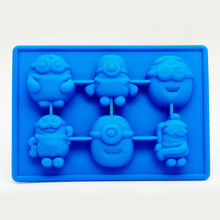 Cooking Minion Shape Ice Cube Tray Silicone Mold Cake Decorating Fondant Tool Topper Chocolate Kitchen Candy Baking Pan(China (Mainland))