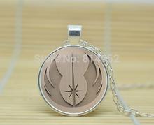 1pcs Jedi  Accessories for Star Wars Fans  Necklace glass Cabochon Necklace A3296