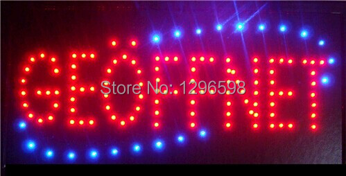 2015 hot sale low power 10*19 inch semi-outdoor Ultra Bright running GEOFFNET led advertising signs(China (Mainland))