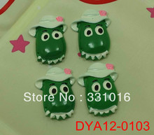 STOCK! 30pcs White Hat Frog Resin Flatbacks For Hair Phone Home Decoration DIY Making Craft Embellishment Hot(China (Mainland))