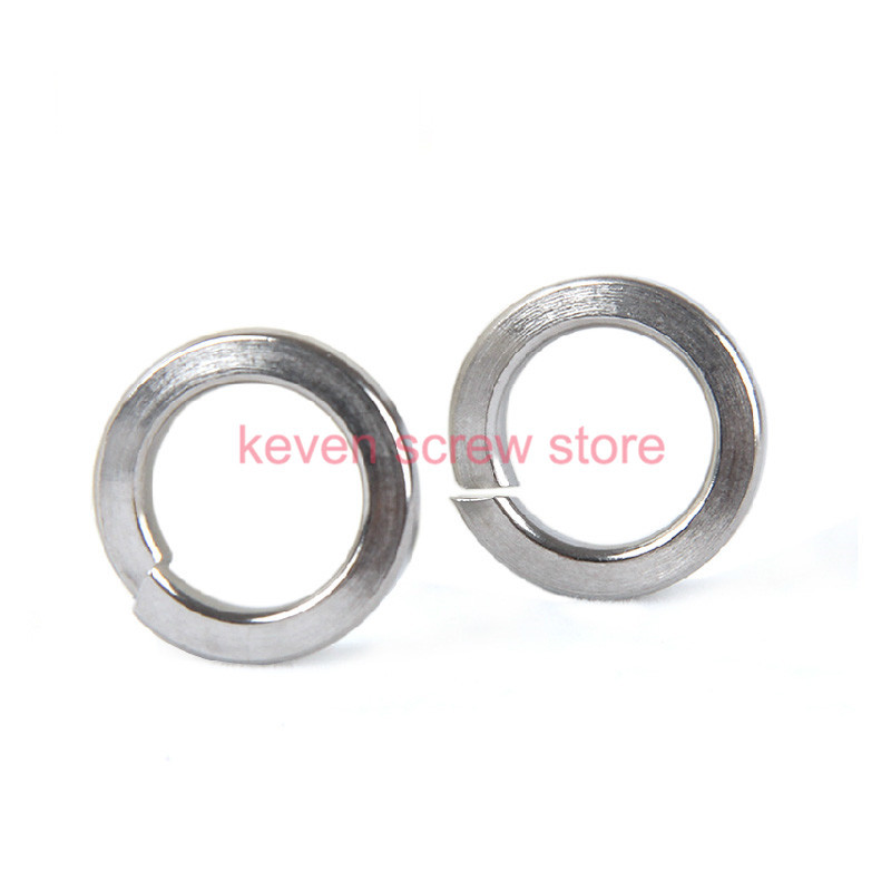 free shipping 100pcs M5 304 Stainless Steel Spring Washer Split Lock Washers(China (Mainland))