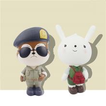 Descendants of the Sun SongJoongKi SongHyeKyo Neukkun Fox Hayang Rabbit PVC Figure Doll Home Decoration Crafts 16040111