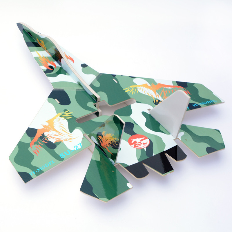Large glider su 27 rc plane electric remote control airplane kt foam rc airplane with LED(China (Mainland))