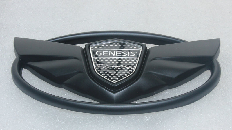 14.5*7.3 cm Black HYUNDAI KIA Genesis Coupe 10 11 12 13 14 Front Trunk Grille Emblem Badge sticker(China (Mainland))