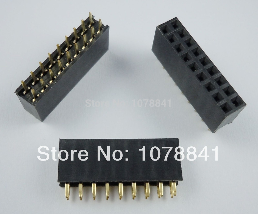 100 Pcs Per Lot 2.54mm 2x9 Pin 18 Pin Female Double Row Straight Pin Header Strip от Aliexpress INT