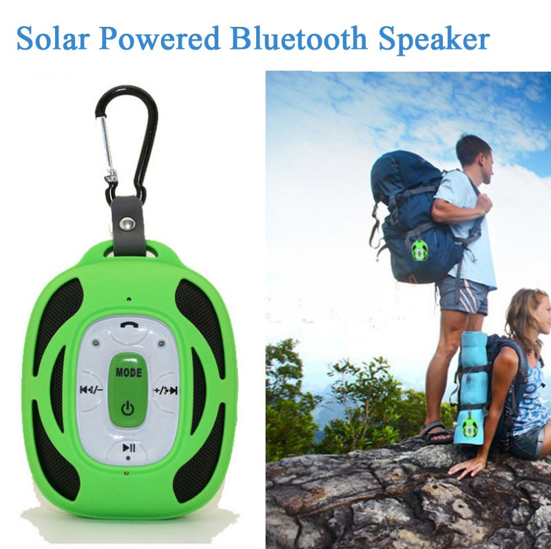 Solar Powered Bluetooth Speaker for phone/tablet OR TF card Music player for MP3 Mp4