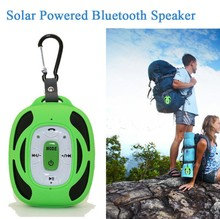 Mini Outdoor Stereo Wireless Bluetooth Speaker Solar Powered TF card Music player for MP3 Mp4 Mobile