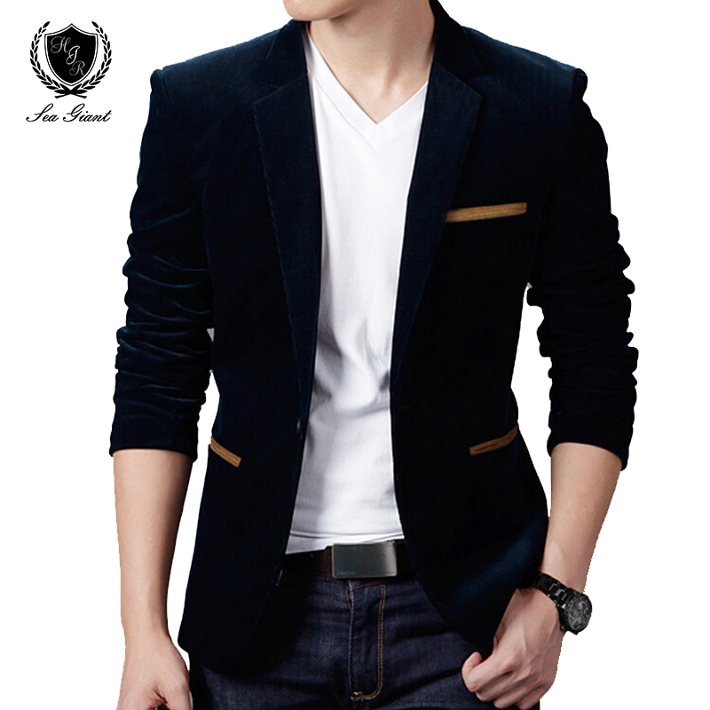 NEW Mens Fashion Brand Blazer British's Style casual Slim Fit suit jacket male Blazers men coat Terno Masculino Plus Size 4XL(China (Mainland))