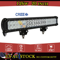 CREE 126W 20 Inch LED Light Bar Offroad for Jeep Ford Combo Beam LED Fog Light 12V 24V For Car Truck Trailer ATV UTV 4WD 4X4 SUV