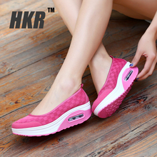 HKR 2016 spring women flat platform shoes women breathable mesh casual shoes fashion platform sandals heel ladies shoes 2961(China (Mainland))