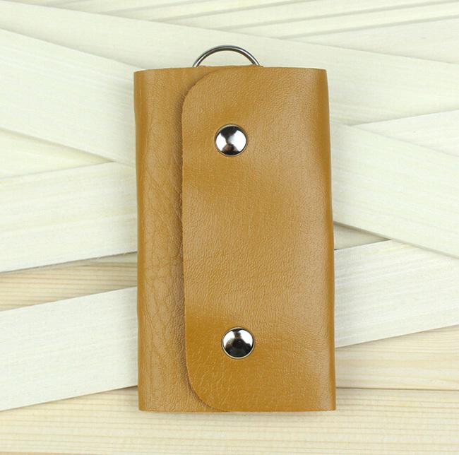 Hot Sale quality gifts Keys holder Organizer Manager pu leather Buckle key case wallet bolsa keychain