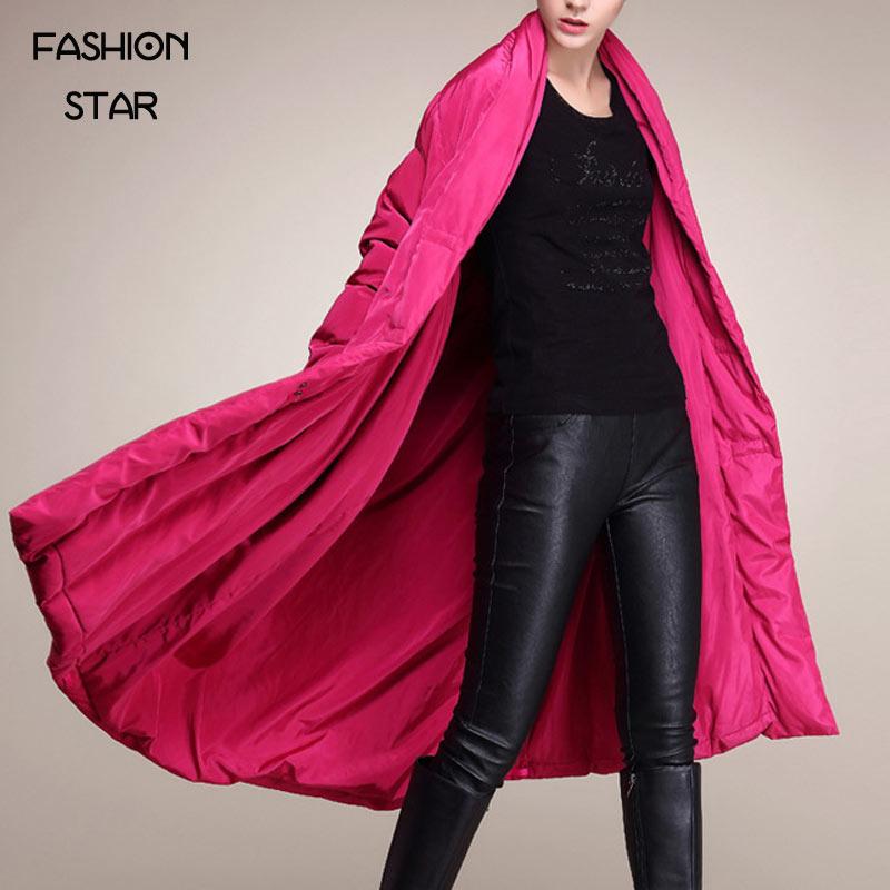 Звезда моды Бренд корейский дизайн парка толстая куртка женщин сплошной Цвет длинным рукавом Lepal высоких конечных плащ женские зимние куртки