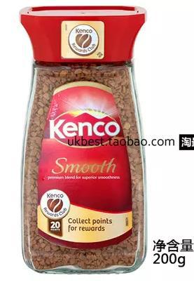Kenco pinioning for sm ooth dry leugth instant 200g glass bottle