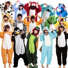 Unisex Adult Flannel Pajamas Animal Pyjama Suits Cosplay Adult Winter Garment Cute Cartoon Animal Onesies Pajama free shipping(China (Mainland))