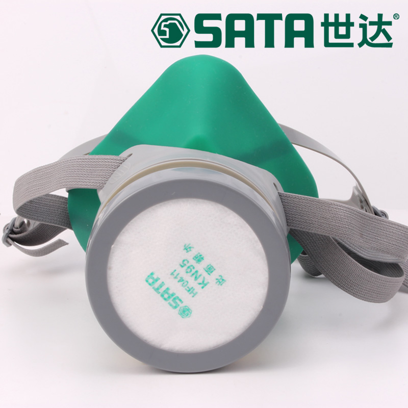 The new 2016 gas mask paint dust organic gas respirator mask silicone material gray chemical respirator mask