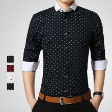 2015 cotone di alta qualità degli uomini camice casuali di marca slim fit uomo  Camicie floreali vestiti da partito di modo slim fit una varietà di colore(China (Mainland))