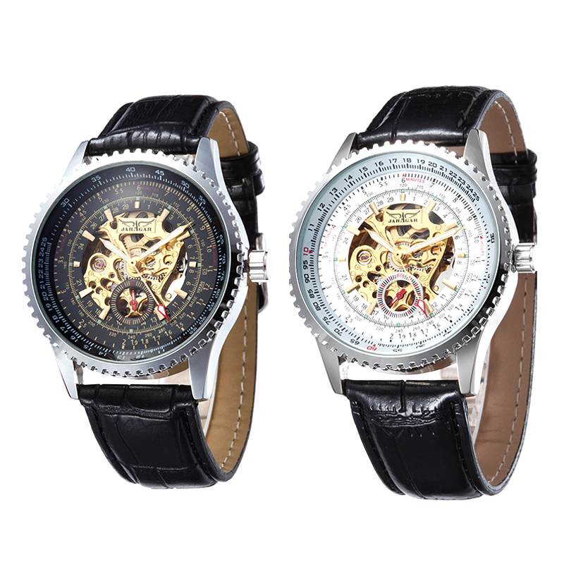 Watches Men 2015 Hot gold core Automatic Mechanical Openwork Fashion Business Men wristWatch