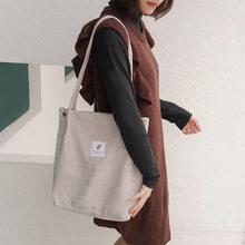 Mulheres Sacola Da Lona 2019 Veludo Feminino Compras Eco Pano Bolsa Grandes Mulheres Shoulder Folding Reutilizável Sacos de Compras Dobrável(China)