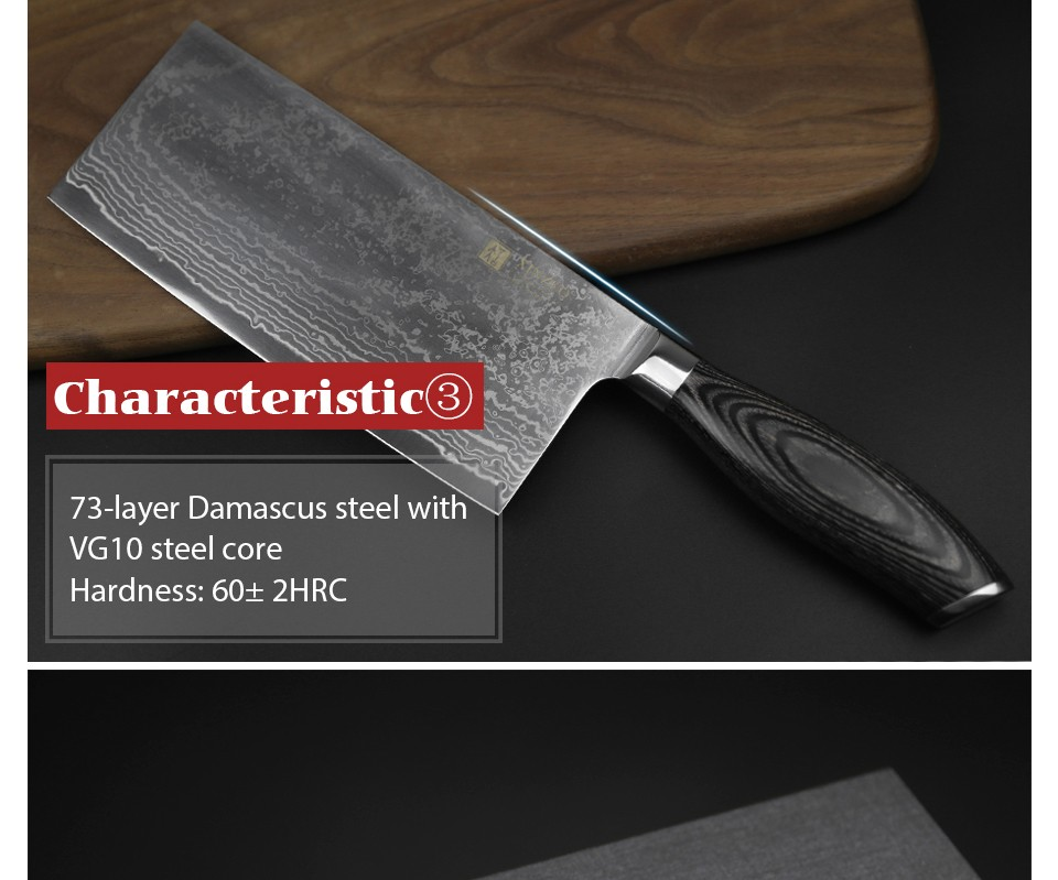 Buy XINZUO 7.5 inch Japanese VG10 Damascus kitchen knife chef knives sharp women knife with pakka wood handle free shipping cheap