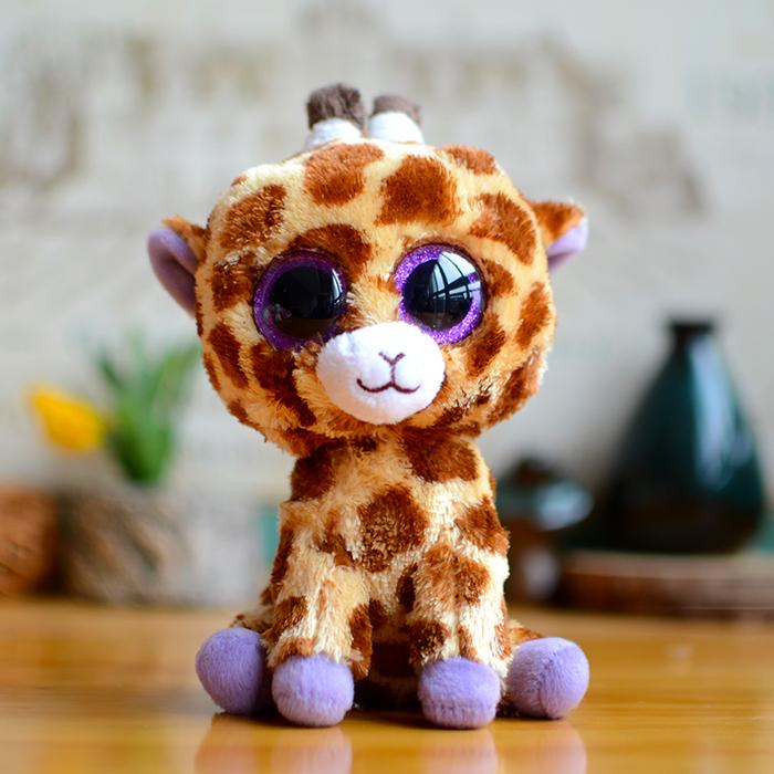 Ty Big Eyes Beanie Boos Kids Baby Toys Colorful Giraffe Cute Plush Toys Lovely Christmas Gifts Kawaii Stuffed Animals Cute Dolls(China (Mainland))