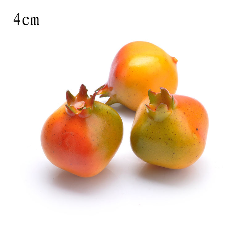 12pcs lot mini 40mm artificial fake pomegranate for for Artificial pomegranate decoration