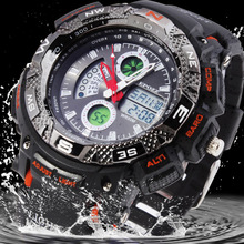 50M waterproof Mens Sport watches LED watch Digital Men military Wristwatches relogios male s shock resistance electronics