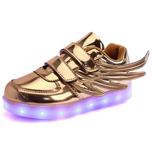 Led luminous Shoes For Boys girls Fashion Light Up Casual kids 7 Colors Outdoor new simulation sole Glowing children sneaker(China (Mainland))