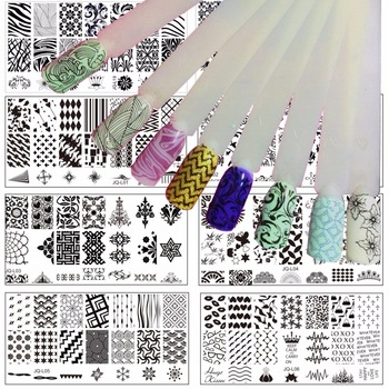 WUF 1 Pc Optional 120*60MM Size Stamp Stamping Image Konad Plate Print Nail Art Template DIY For Nail Stamping Plates