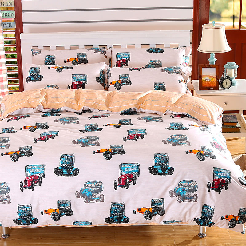 boys bedding sets twin full queen king size 100% Cotton bedsheets set