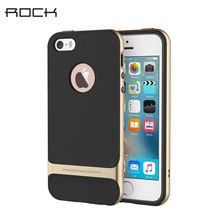 For iPhone 5S iPhone SE Case ROCK Royce Series Luxury Slim Armor Phone Cases Capa For Apple iPhone 5 5S Se Back Covers TPU+PC(China (Mainland))