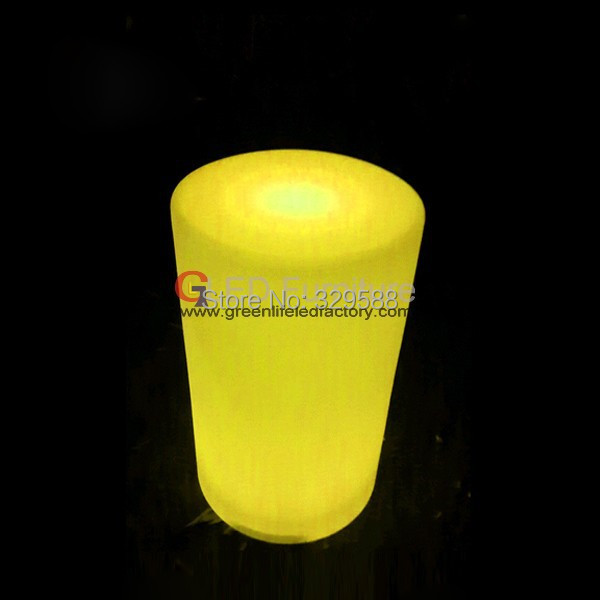 RGB Led Lighted Up Cylinder Unique Furniture For Night Club,Cafe house,party(China (Mainland))