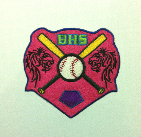 nice embroidery patches for sleeve of polo shirt(China (Mainland))