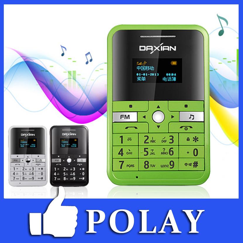 Original DaXian DX666 Mini Pocket Card Mobile Phone Bluetooth MP3 Music FM Low radiation Max 8GB TF card Russian Spanish Arabic(China (Mainland))