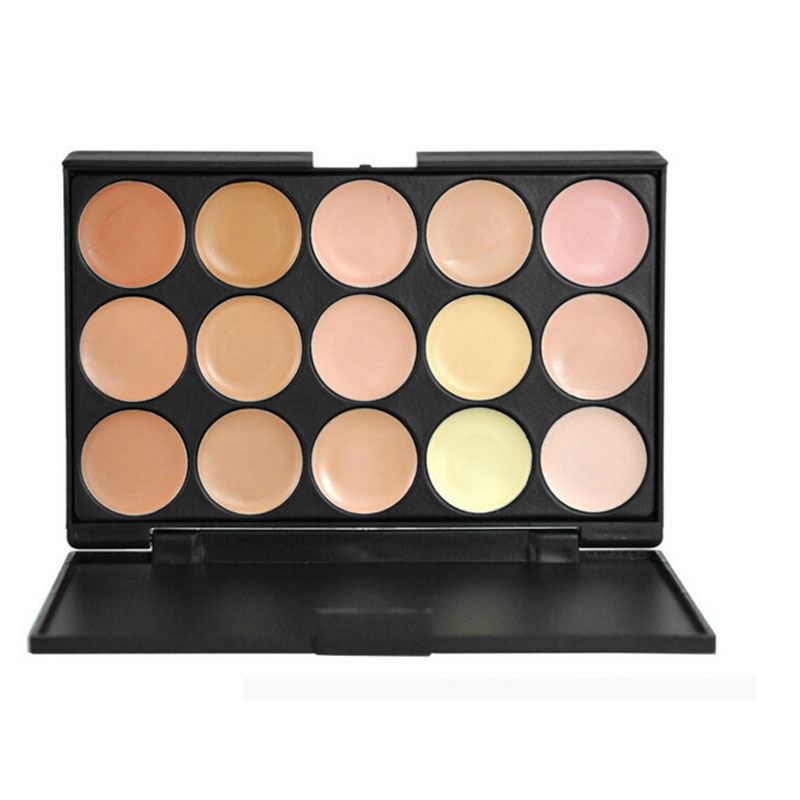 Pro Contour Cream Kit 15 Color Concealer Liquid Palette Facial Face Care Camouflage Makeup sets Base Cosmetic Party Daily Use(China (Mainland))