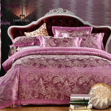 Home textile bedding set jacquard luxury cotton bed set bed cover sheet 4pcs/set Queen king duvet set bed clothing duvet cover