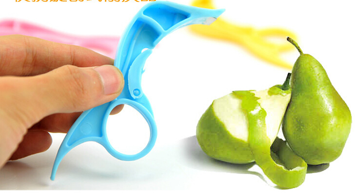 Cute Convenient Stainless Steel Spiral Planer Type Safe Spin Fruit Knife free shipping B195(China (Mainland))