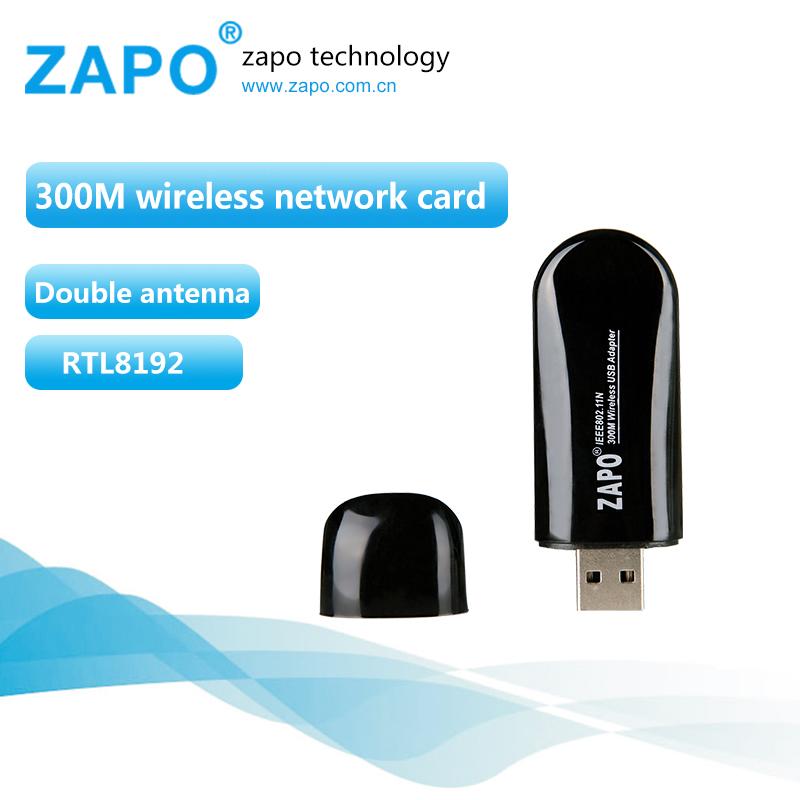 ZAPO 300Mbps wireless network card 802.11n/g/b wifi adapter Mini usb wi-fi receiver wi fi ethernet dongle lan Adaptador RTL8192(China (Mainland))