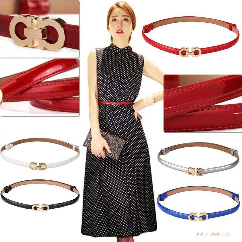 adjustable waist belt leather PU luxury trendy Hip belts gold buckle women thin adjust beauty all suite strap(China (Mainland))