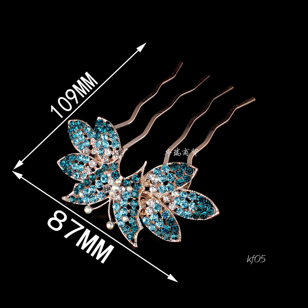 1pcs New Arrival Crystal Bow/Butterfly Hair Comb For Wedding Women Jewelry Hair Pin Accessories Bridal Hairpins(China (Mainland))