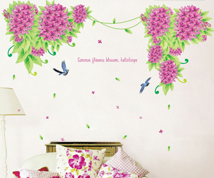 Heliotrope Lilac Nature In Your House Wall Stickers Flower Wallstickers Home Decor For Decoration Room