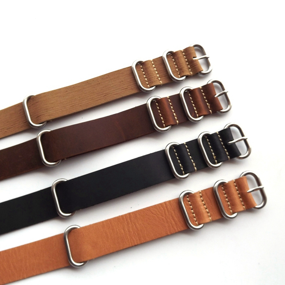 Гаджет  1pc selling genuine leather nato&zulu watchstraps watchband in different colors in size18mm 20mm 22mm  None Часы