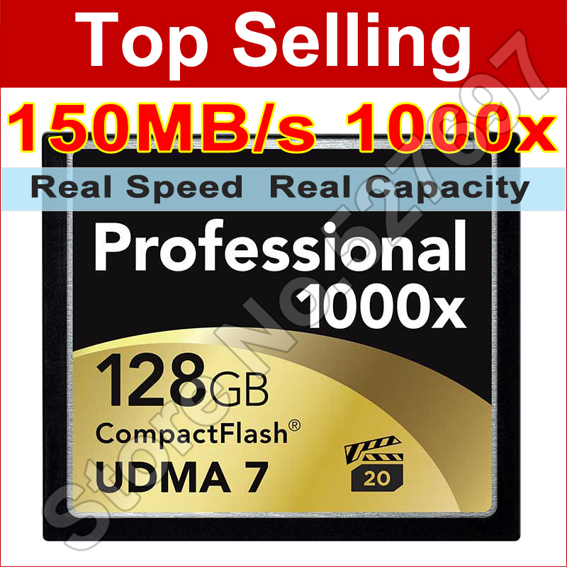 150MB/s Brand 1000x 32GB 64GB 128GB CompactFlash CF Card High Speed Flash Memory Card For DSLR Camera Full HD 3D Video Camcorder(China (Mainland))