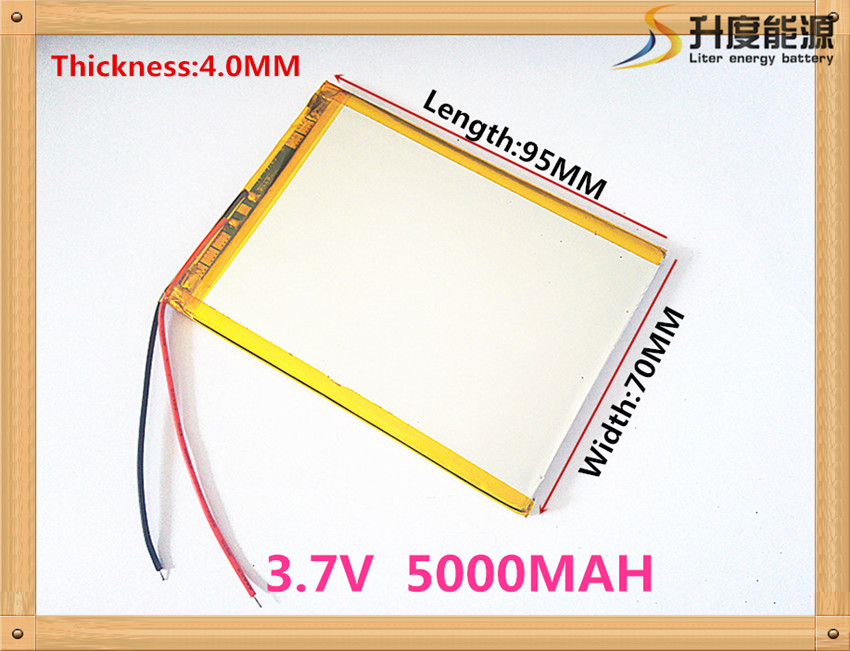 "407095 3.7V 5000mah Lithium polymer battery For 7"" Tablet Q88 A13,CUBE U25GT,Freeander PD10 3G,PD20 3G TV MTK6575,MTK6577(China (Mainland))"